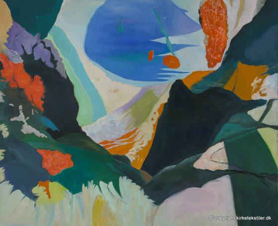 """Hidden Beach"" -olie på lærred, 90 x110 cm"