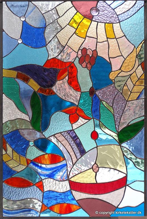 """""""Skærtorsdag"""" -blyindfattet glas, 90x60 cm"""
