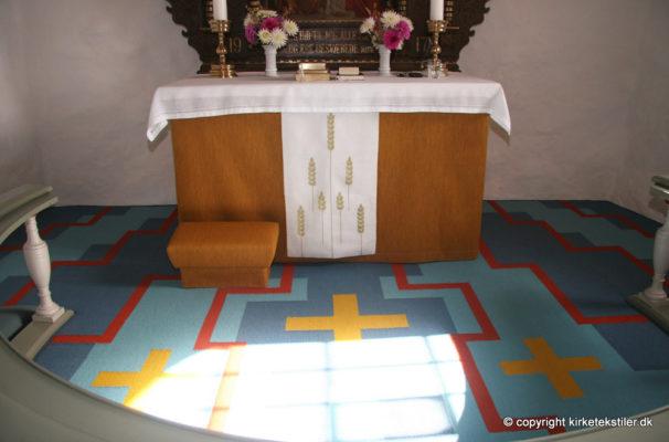 Altertæppe samt stof til antependium og skammel, Sdr. Resen kirke