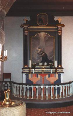 Damaskvævet antependium, Ørre kirke