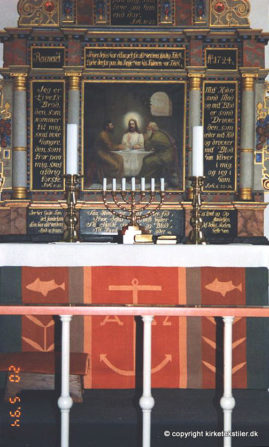 Damaskvævet antependium samt alterdug, Tversted kirke